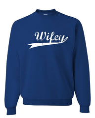 Wifey Cute Crew Neck Sweatshirt Bride Wedding Wife Marriage