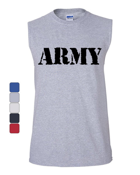 ARMY Muscle Shirt Military Veteran POW MIA Patriotic Veteran's Day Sleeveless