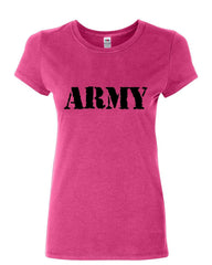 ARMY Women's T-Shirt Military Veteran POW MIA Patriotic Veteran's Day Shirt