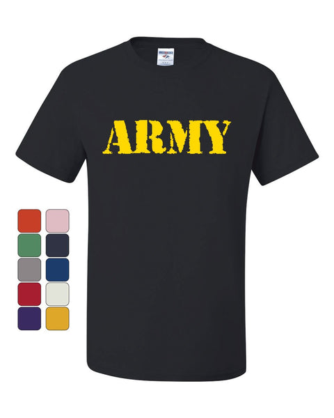 ARMY T-Shirt Military Soldier POW MIA Patriotic Veteran's Day Tee Shirt