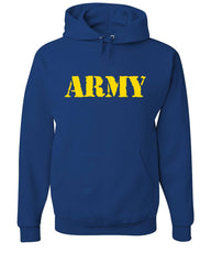 ARMY Hoodie Military Soldier POW MIA Patriotic Veteran's Day Sweatshirt