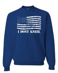 I Don't Kneel Sweatshirt American Flag Patriot Stars and Stripes Sweater