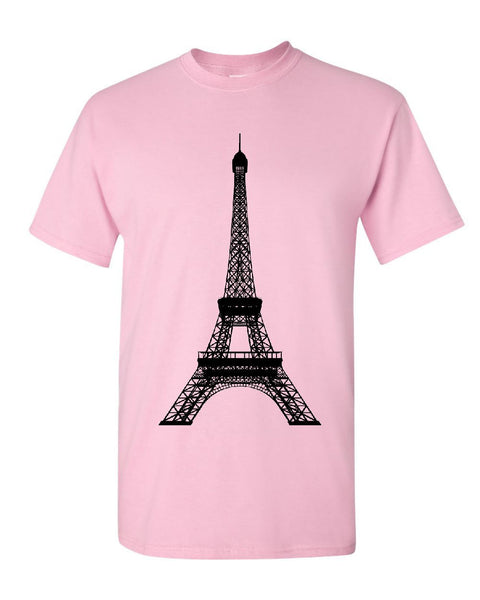 Eiffel Tower T-Shirt Paris France Sightseeing Travel Europe Mens Tee Shirt