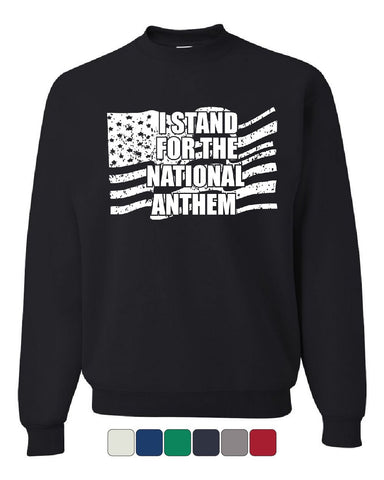 I Stand for the National Anthem Sweatshirt Patriot MAGA USA Trump Sweater