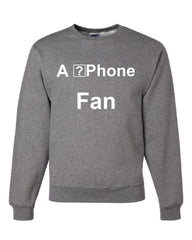 A ?Phone Fan Funny Sweatshirt Apple iPhone Fan Glitch iOS 11 Geek Sweater