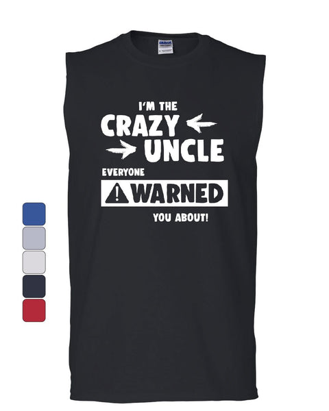 Crazy Uncle Funny Muscle Shirt Family Holiday Party Gift for Uncle Sleeveless