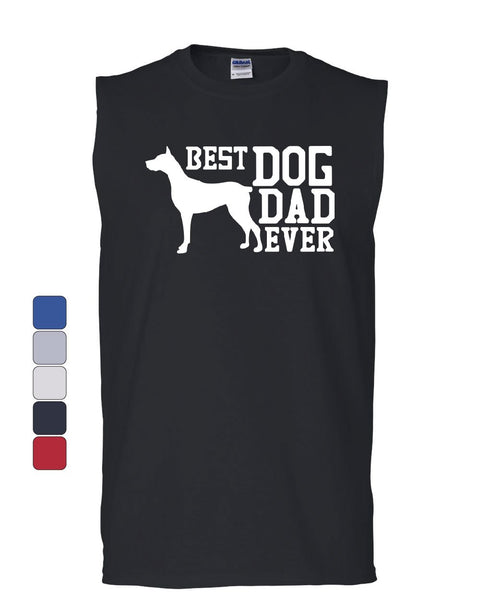 Best Dog Dad Ever Muscle Shirt Father's Day Gift Pet Dog Lovers Sleeveless