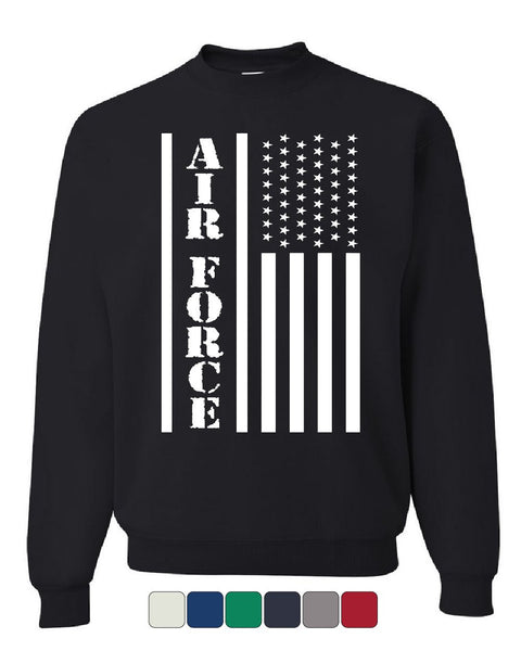 Air Force Flag Military Sweatshirt Patriot Veteran Stars & Stripes Sweater