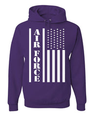 Air Force Flag Military Hoodie Patriot Veteran Stars & Stripes Sweatshirt