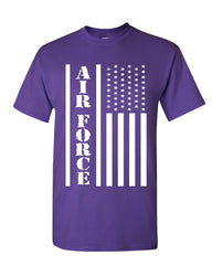 Air Force Flag Military T-Shirt Patriot Veteran Stars & Stripes Mens Tee Shirt