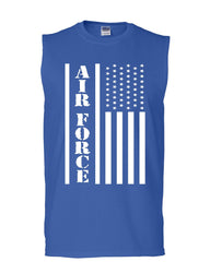 Air Force Flag Military Muscle Shirt Patriot Veteran Stars & Stripes Sleeveless
