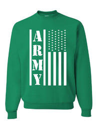 Army Flag Military Sweatshirt Patriot Veteran Stars & Stripes Honor Sweater