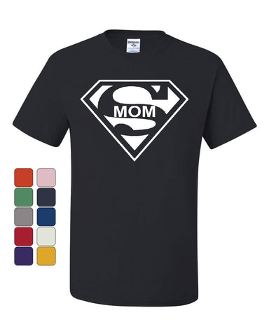 Super Mom Funny T-Shirt Superhero Parody Mother's Day Tee Shirt