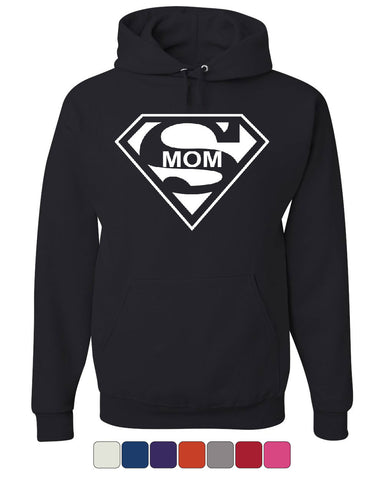 Super Mom Funny Hoodie Superhero Parody Mother's Day Sweatshirt - Tee Hunt - 1