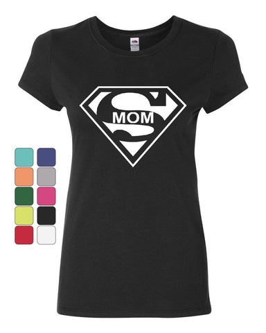 Super Mom Funny Cotton T-Shirt Superhero Parody Mother's Day - Tee Hunt - 1