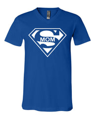 Super Mom Funny V-Neck T-Shirt Superhero Parody Mother's Day Tee - Tee Hunt - 11