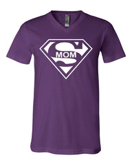 Super Mom Funny V-Neck T-Shirt Superhero Parody Mother's Day Tee - Tee Hunt - 7