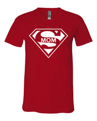 Super Mom Funny V-Neck T-Shirt Superhero Parody Mother's Day Tee - Tee Hunt - 9