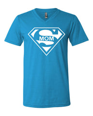 Super Mom Funny V-Neck T-Shirt Superhero Parody Mother's Day Tee - Tee Hunt - 10