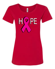 HOPE Breast Cancer Awareness Pink Ribbon T-Shirt  Tee Shirt - Tee Hunt - 3