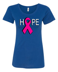 HOPE Breast Cancer Awareness Pink Ribbon T-Shirt  Tee Shirt - Tee Hunt - 4