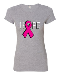 HOPE Breast Cancer Awareness Pink Ribbon Cotton T-Shirt - Tee Hunt - 7