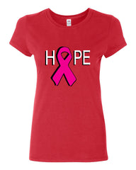 HOPE Breast Cancer Awareness Pink Ribbon Cotton T-Shirt - Tee Hunt - 3