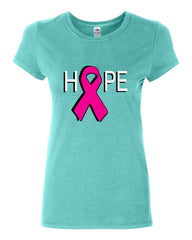 HOPE Breast Cancer Awareness Pink Ribbon Cotton T-Shirt - Tee Hunt - 5