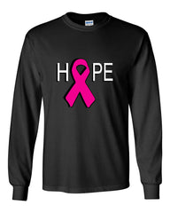HOPE Breast Cancer Awareness Pink Ribbon Long Sleeve T-Shirt - Tee Hunt - 2
