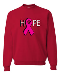 HOPE Breast Cancer Awareness Pink Ribbon Crew Neck Sweatshirt - Tee Hunt - 4