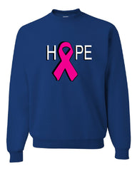 HOPE Breast Cancer Awareness Pink Ribbon Crew Neck Sweatshirt - Tee Hunt - 5