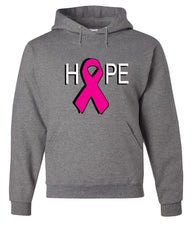 HOPE Breast Cancer Awareness Pink Ribbon Hoodie  Sweatshirt - Tee Hunt - 7