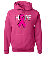 HOPE Breast Cancer Awareness Pink Ribbon Hoodie  Sweatshirt - Tee Hunt - 9