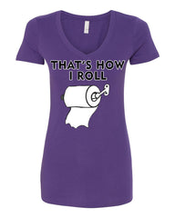 That's How I Roll Funny  V-Neck T-Shirt Toilet Paper Roll - Tee Hunt - 11