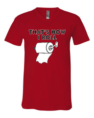 That's How I Roll Funny  V-Neck T-Shirt Toilet Paper Roll Tee - Tee Hunt - 10