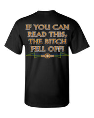 If You Can Read This, The Bitch Fell Off T-Shirt Funny Biker Tee Shirt - Tee Hunt - 2