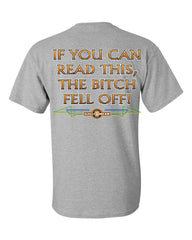 If You Can Read This, The Bitch Fell Off T-Shirt Funny Biker Tee Shirt - Tee Hunt - 4