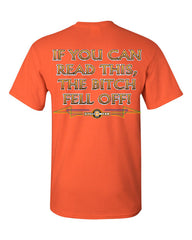 If You Can Read This, The Bitch Fell Off T-Shirt Funny Biker Tee Shirt - Tee Hunt - 10