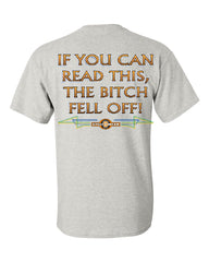 If You Can Read This, The Bitch Fell Off T-Shirt Funny Biker Tee Shirt - Tee Hunt - 3