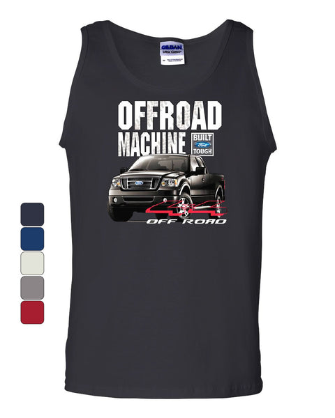 Licensed Ford F-150 Tank Top Offroad Machine Built Ford Tough - Tee Hunt - 1