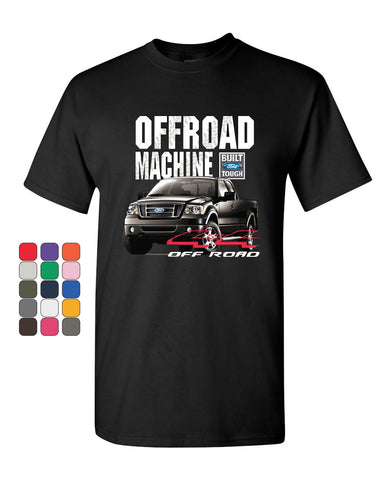 Licensed Ford F-150 T-Shirt Offroad Machine Built Ford Tough Tee Shirt - Tee Hunt - 1