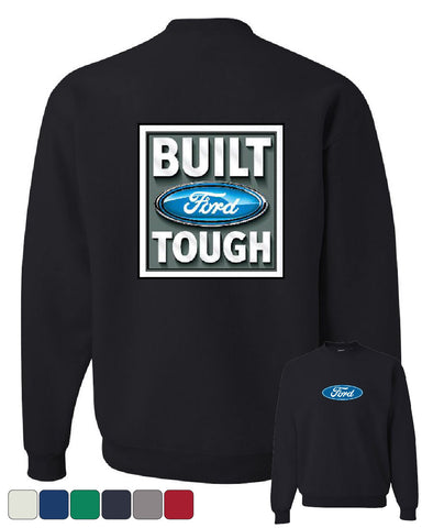 Built Tough Crew Neck Sweatshirt Licensed Ford Truck 4x4 F150 Mustang