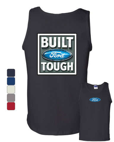Built Tough Tank Top Licensed Ford Truck 4x4 F150 Mustang - Tee Hunt - 1