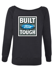 Built Tough Wideneck Sweatshirt Licensed Ford Truck 4x4 F150 Mustang