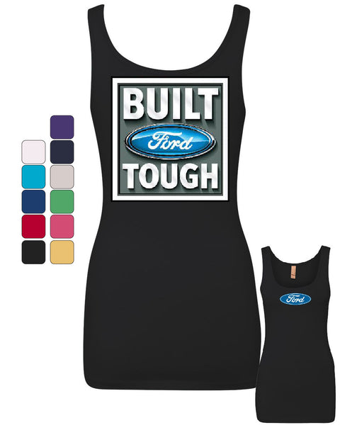 Built Tough Tank Top Licensed Ford Truck 4x4 F150 Mustang Top