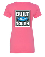 Built Tough V-Neck T-Shirt Licensed Ford Truck 4x4 F150 Mustang