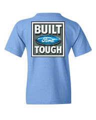 Built Tough Youth T-Shirt Licensed Ford Truck 4x4 F150 Mustang Tee