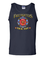 Firefighters Kick Ash Tank Top  Volunteer FD Fire Rescue