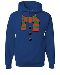 Snowman Scarf Hoodie Funny Christmas New Year Holidays Sweatshirt - Tee Hunt - 6