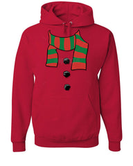 Snowman Scarf Hoodie Funny Christmas New Year Holidays Sweatshirt - Tee Hunt - 5